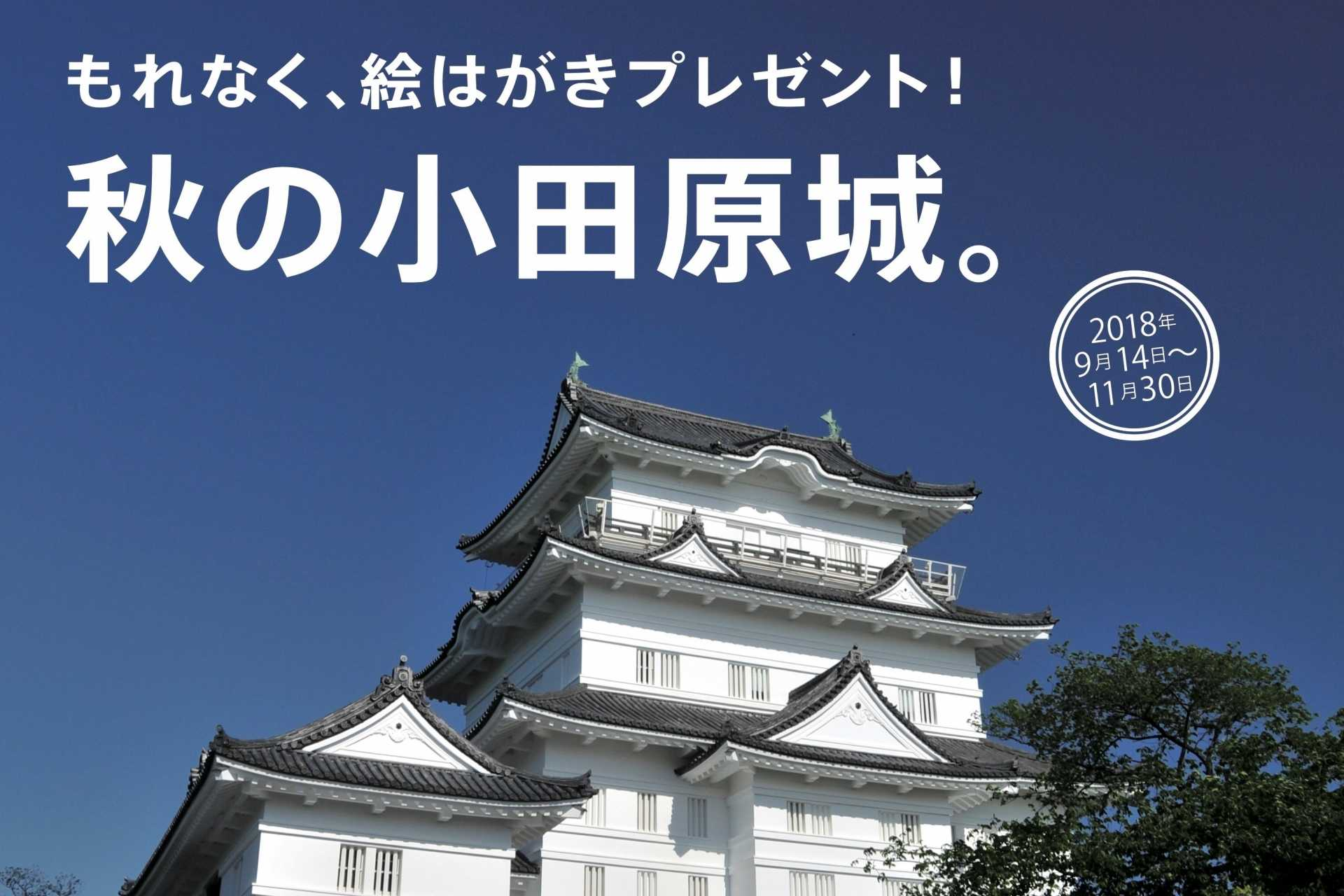 We present picture postcard without exception in Odawara-jo Castle! (outside site)